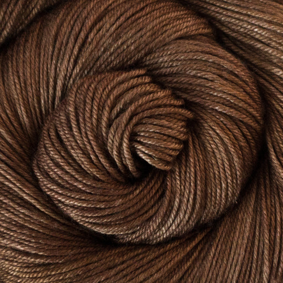 Silky Sheep Yarn - Chestnut Semi Solid