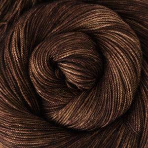 Yakity Yak Fingering Weight Yarn - Chestnut Tonal