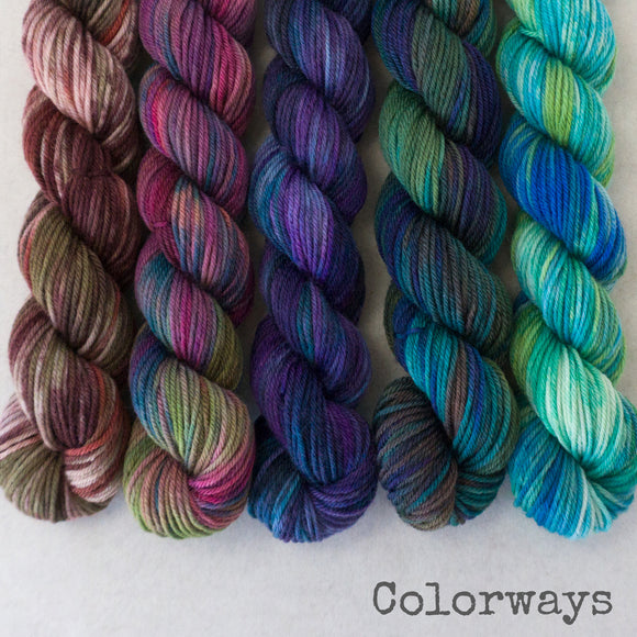 Simply Sock 5-Pack Mini Skeins in Colorway Variegated