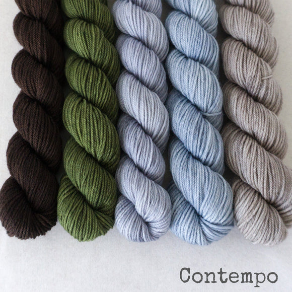 Simply Sock 5-Pack Mini Skeins in Contempo Semi Solid