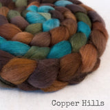 Merino Yak Silk Roving - Copper Hills