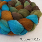 Targhee Wool Roving - Copper Hills