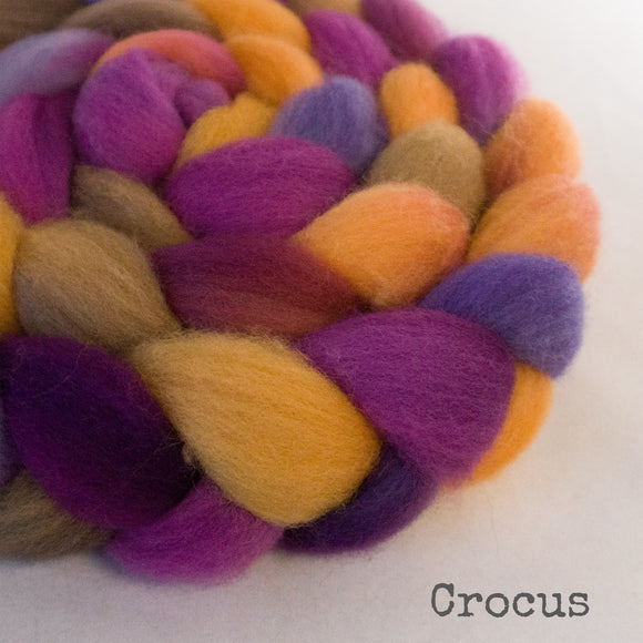 Falkland Wool Roving - Crocus