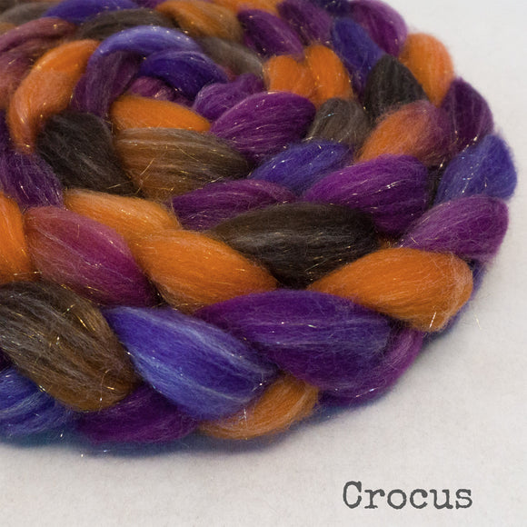Glitter Roving - Crocus - Gold