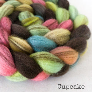 Heathered BFL Roving - Cupcake