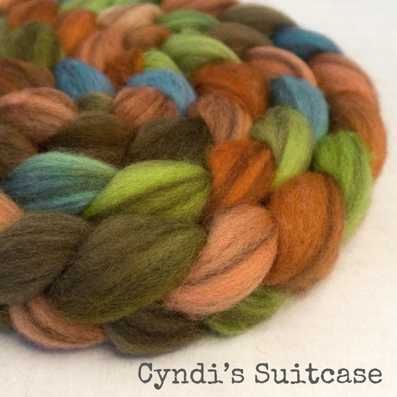 Heathered BFL Roving - Cyndi's Suitcase