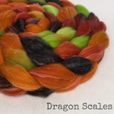 Glitter Roving - Dragon Scales - Gold