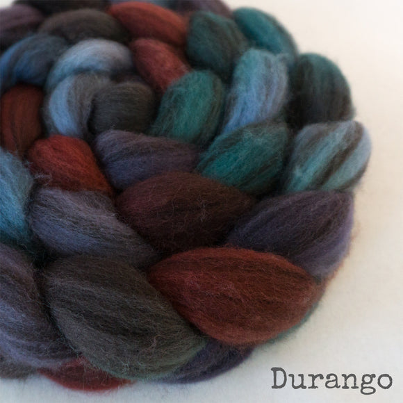 Heathered BFL Roving - Durango