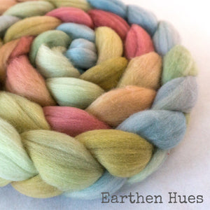 Merino Superfine Roving - Earthen Hues