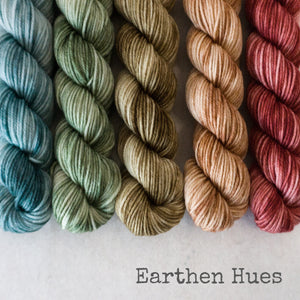 Simply Sock 5-Pack Mini Skeins in Earthen Hues Tonal