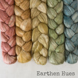 Camel Silk Roving - Earthen Hues - Bundle