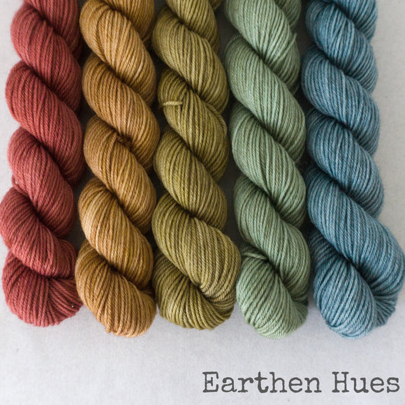 Simply Sock 5-Pack Mini Skeins in Earthen Hues Semi Solid