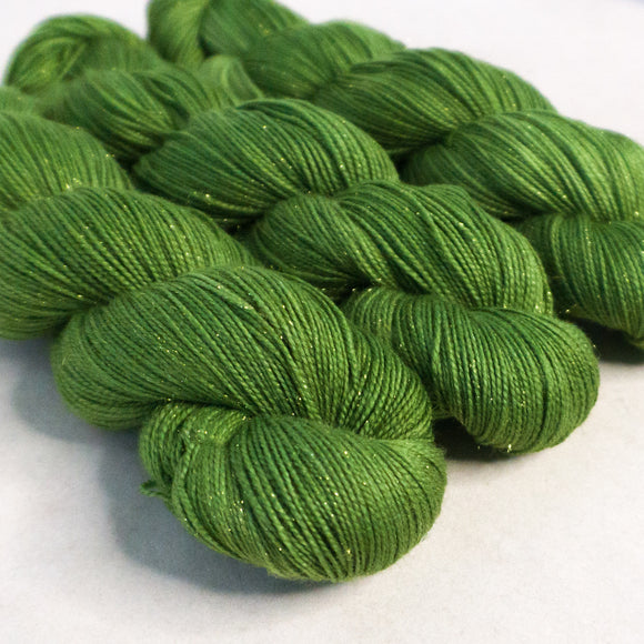 Gold Dust Yarn - Emerald Semi Solid