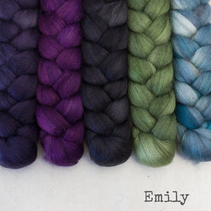 Merino Yak Silk Roving - Emily - Bundle