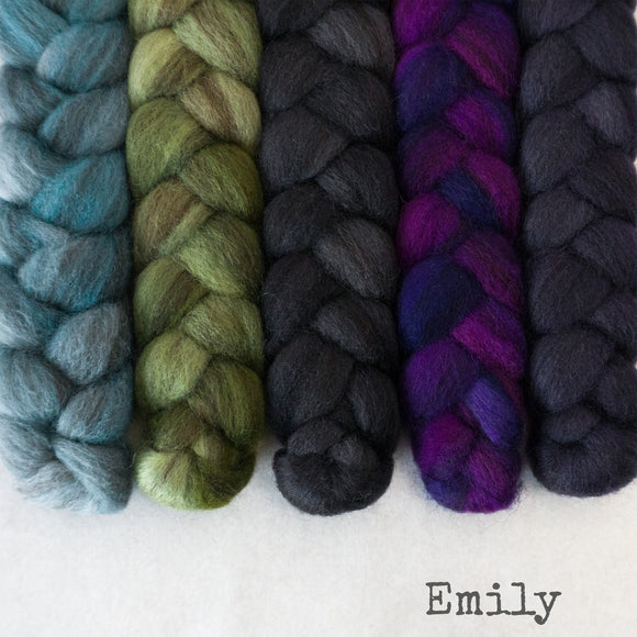 Heathered BFL Roving - Emily - Bundle