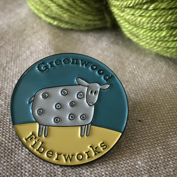 Enamel Sheep Pin