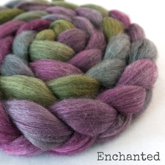 Merino Yak Silk Roving - Enchanted