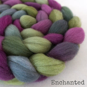Falkland Wool Roving - Enchanted