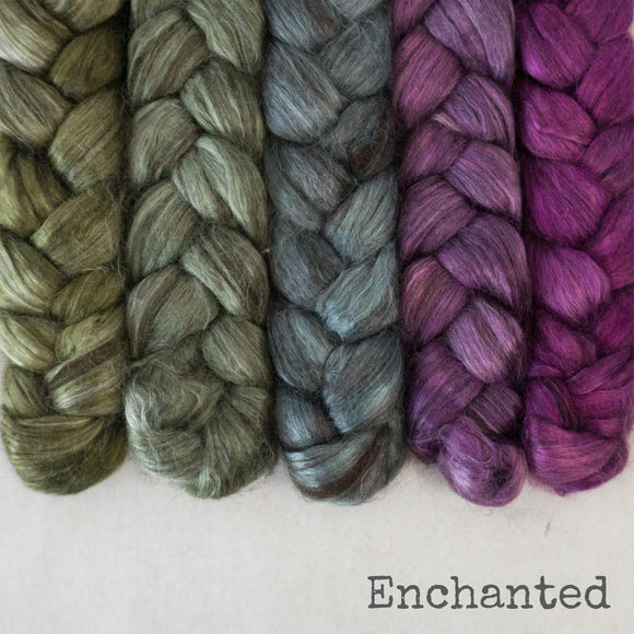 Yak Silk Roving - Enchanted - Bundle