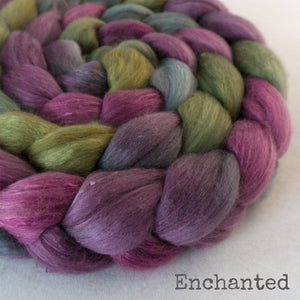 Merino Camel Silk Roving - Enchanted