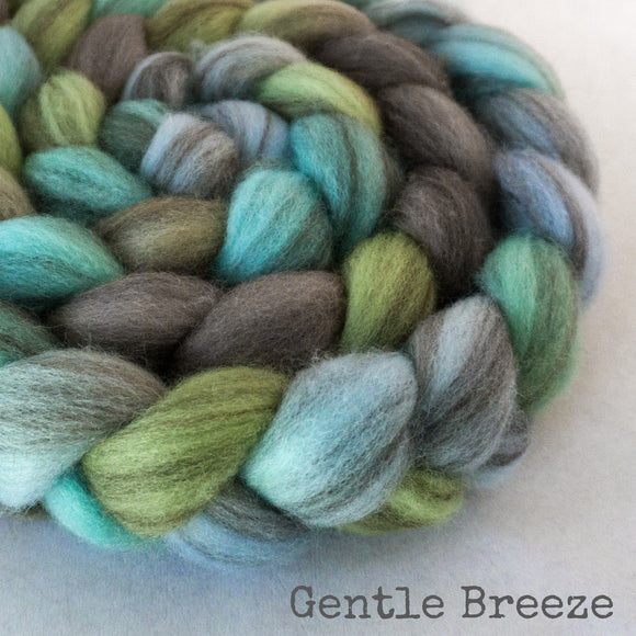 Heathered BFL Roving - Gentle Breeze