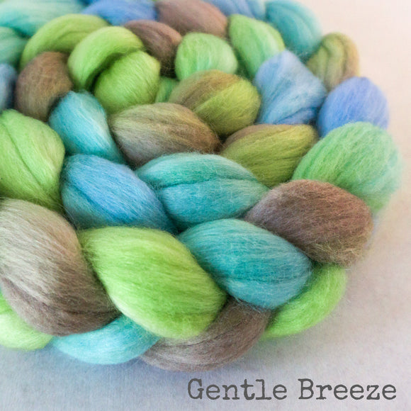 Merino Silk Cashmere Roving - Gentle Breeze