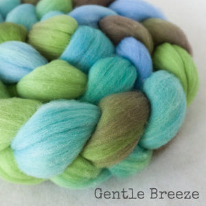 Targhee Wool Roving - Gentle Breeze