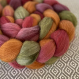 Organic Polwarth Mulberry Silk Roving - Grapevine