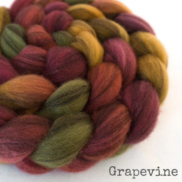 Heathered BFL Roving - Grapevine