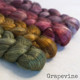 Yak Silk Roving - Grapevine - Bundle