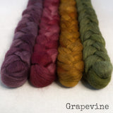 Merino Yak Silk Roving - Grapevine - Bundle
