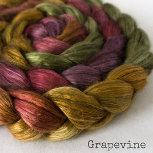 Yak Silk Roving - Grapevine