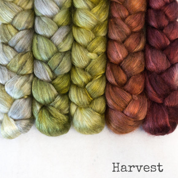 Yak Silk Roving - Harvest - Bundle