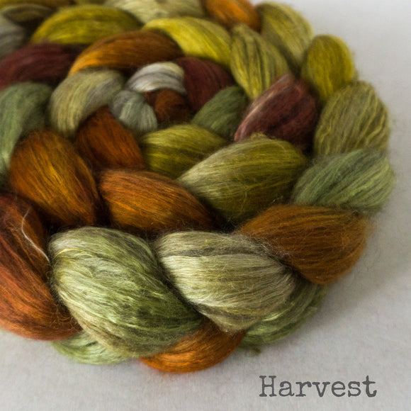 Yak Silk Roving - Harvest