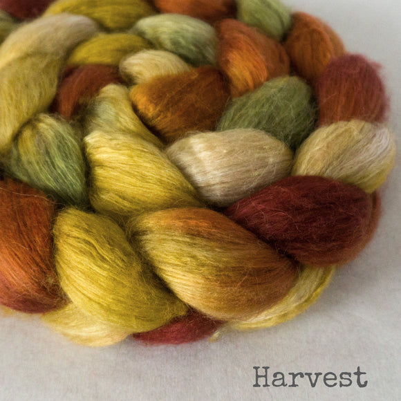 Camel Silk Roving - Harvest