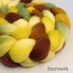Polwarth Wool Roving - Harvest