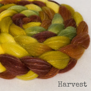 Glitter Roving - Harvest - Gold