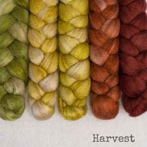 Camel Silk Roving - Harvest - Bundle