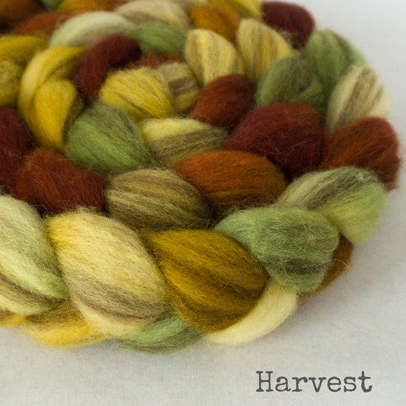 Heathered BFL Roving - Harvest