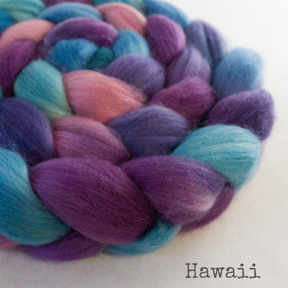 Merino Camel Silk Roving - Hawaii
