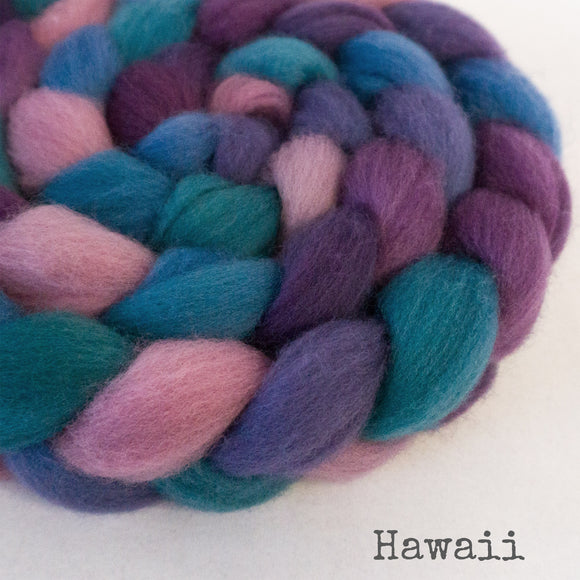BFL Wool Roving - Hawaii