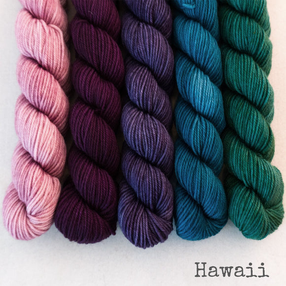 Simply Sock 5-Pack Mini Skeins in Hawaii Semi Solid