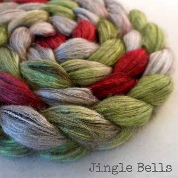Yak Silk Roving - Jingle Bells