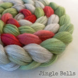 Merino Yak Silk Roving - Jingle Bells