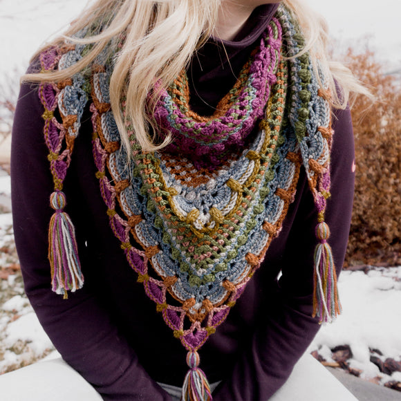 Lost in Time Crochet Shawl Kit
