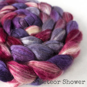 Camel Silk Roving - Meteor Shower