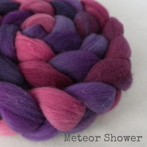 Targhee Wool Roving - Meteor Shower