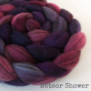Heathered BFL Roving - Meteor Shower