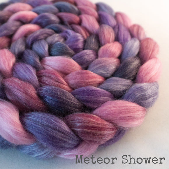 Merino Tencel Roving - Meteor Shower