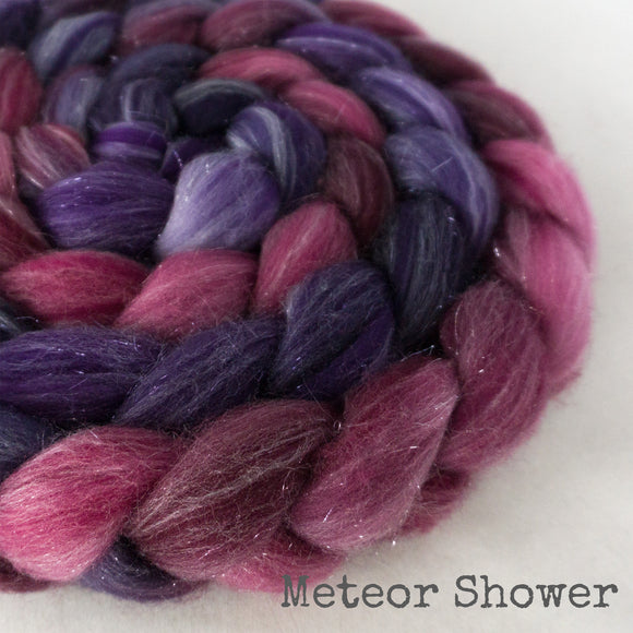 Glitter Roving - Meteor Shower - Silver